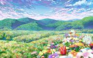 Blue Flower Anime  16 Background