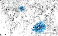 Blue Flower Anime  17 Wide Wallpaper