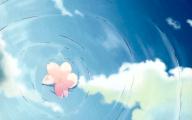 Blue Flower Anime  2 Wide Wallpaper