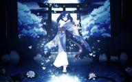 Blue Flower Anime  4 Background Wallpaper