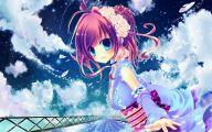 Blue Flower Anime  5 Wide Wallpaper