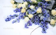 Blue Flower Arrangements  5 Background