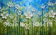 Green Flowers Canvas  10 Hd Wallpaper