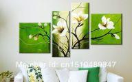 Green Flowers Canvas  19 Desktop Background