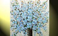 Green Flowers Canvas  6 Free Hd Wallpaper