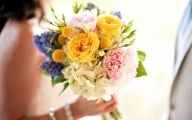Pink And Yellow Rose Wedding Flowers  23 Wide Wallpaper