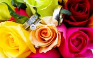 Pink And Yellow Rose Wedding Flowers  4 Desktop Background