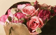 Pink Rose Flower Arrangements  1 Background