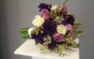 Purple And Rose Cascade Flower Bouquets  3 Hd Wallpaper