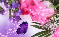 Purple Rose Flower  12 Widescreen Wallpaper