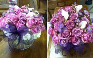 Purple Rose Flower Arrangements  11 Widescreen Wallpaper
