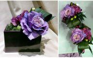 Purple Rose Flower Arrangements  4 Background Wallpaper