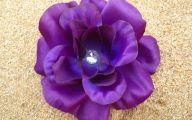 Purple Rose Like Flower  7 Background Wallpaper
