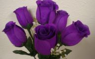 Purple Rose Silk Flower  25 Background Wallpaper