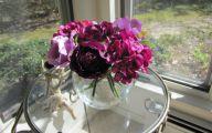 Purple Rose Silk Flower  4 Background
