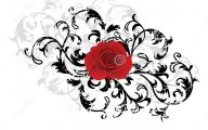Red And Black Flower  18 Hd Wallpaper