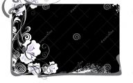 White And Black Rose Flower Design In Cdr  17 Cool Wallpaper