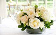 White Flowers Centerpieces  18 Wide Wallpaper