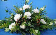 White Rose Flower Arrangements  2 Wide Wallpaper