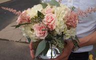 White Rose Flower Arrangements  4 Desktop Background