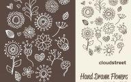 Black Flower Clip Art  36 Background