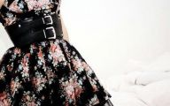 Black Flowers Dresses 19 Background