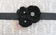 Black Flowers Dresses 5 Wide Wallpaper