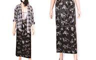 Black Flowers Skirt 1 Desktop Background