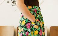 Black Flowers Skirt 12 High Resolution Wallpaper