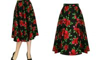 Black Flowers Skirt 17 Background Wallpaper