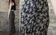 Black Flowers Skirt 25 High Resolution Wallpaper