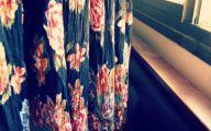 Black Flowers Skirt 30 Background Wallpaper