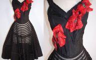 Black Flowers Skirt 35 Wide Wallpaper