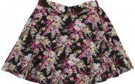 Black Flowers Skirt 6 Background