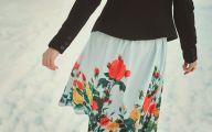 Black Flowers Skirt 7 Cool Hd Wallpaper
