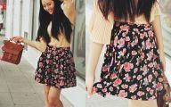 Black Flowers Skirt 9 Background