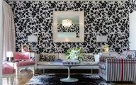 Black Flowers Wall Design 6 Cool Hd Wallpaper