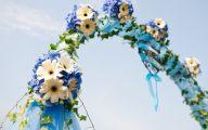 Blue Flowers Beach Wedding Decoration 1 Free Hd Wallpaper