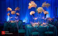 Blue Flowers Beach Wedding Decoration 10 Background