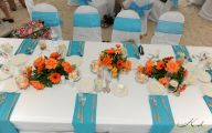 Blue Flowers Beach Wedding Decoration 15 High Resolution Wallpaper
