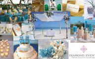 Blue Flowers Beach Wedding Decoration 16 Desktop Wallpaper