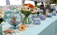 Blue Flowers Beach Wedding Decoration 2 Free Wallpaper