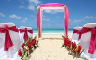 Blue Flowers Beach Wedding Decoration 20 Free Hd Wallpaper