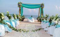 Blue Flowers Beach Wedding Decoration 23 Desktop Wallpaper