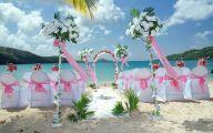 Blue Flowers Beach Wedding Decoration 27 High Resolution Wallpaper