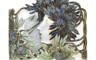 Blue Flowers Headdress 2 Widescreen Wallpaper