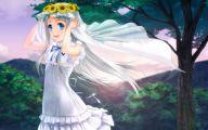 Blue Flowers Headdress 20 High Resolution Wallpaper