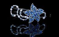 Blue Flowers Headdress 24 Wide Wallpaper