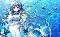 Blue Flowers Headdress 5 Cool Wallpaper