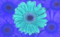 Blue Flowers Wall Painting 20 Free Hd Wallpaper